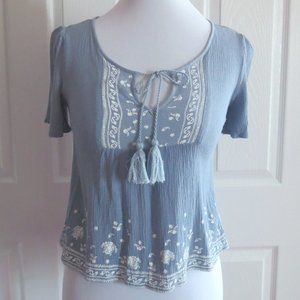 Garage Light Blue Blouse